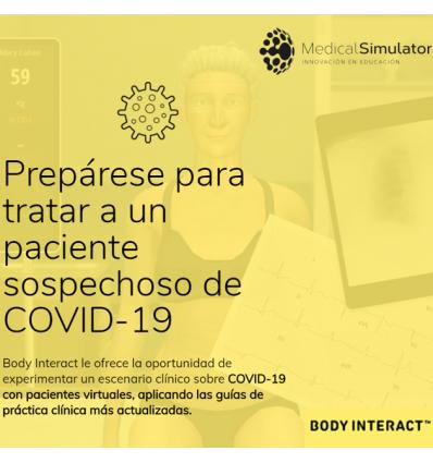 Escenario clínico sobre COVID-19 de Body Interact